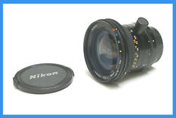 Nikon Pc-nikkor 28mm F3.5 Perspective Control Lens Ships From Usa- Used Once