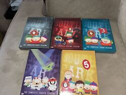Brand New Sealed Lot Of 5 South Park Seasons 1-5 Dvd Paramount