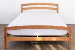 Solid Wood Platform Bed Frame Headboard Rainbow Oak Maple Hand Crafted Usa