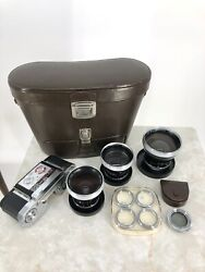 Vintage Pro-tessar And Proxar Auxiliary Lenses For Zeiss Ikon Contaflex Cameras