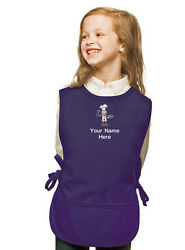 Personalized Kids Cobbler Apron Purple Monogrammed for Boy amp; Girl Chefs $23.99