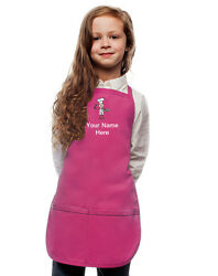 Personalized Kids Apron Hot Pink Monogrammed for little Boy and Girl Chefs $23.99
