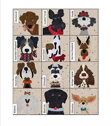 Dog Gone Cute Precut Quilt Kit One- Quick And Easy Laser Cut Quilt Kit - 12 Dogs