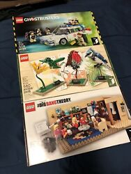 Lego Ideas 21108, 21301, 21302 Ghostbusters, Birds, Big Bang Theory Sealed New