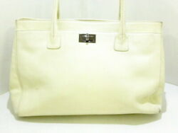 Secondhand Executive Line 2.55 Tote Bag Caviar Skin Ivory No.2903