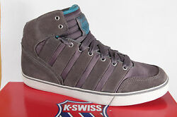 K.swiss Men's Ankle Boots Sneakers Trainers Leather/nylon Grey New