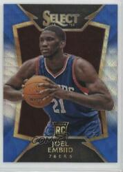 2014-15 Panini Select Concourse Blue And Silver Prizm Joel Embiid 90 Rookie