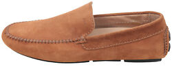 Brioni Menand039s Leather Shoes Slip On Moccasins Brown Size Eur 42 Uk 8 Us 9