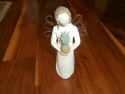 Willow Tree Welcoming Angel With Pineapple Figurine 8 Tall Free Ship