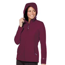 Free Country Ladie's Waterproof Rain Jacket, Plum Jewel Check For Size