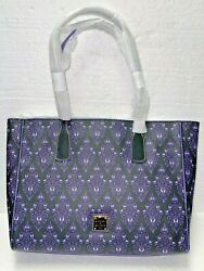 Disney Dooney And Bourke Tote Bag - The Haunted Mansion Wallpaper