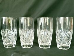 Marquis By Waterford Crystal Brookside Highball Glasses Tumblers Set Of 4