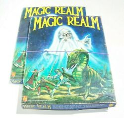 Lot Of 2 Vintage Avalon Hill 1979 Magic Realm Fantasy Board Games - Used