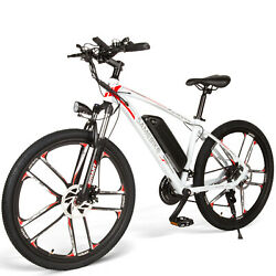 26 Electric Bicycle 350w City Mountain Bike Cycling Ebike Mtb Shimano 21 Speed