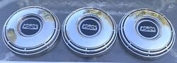 3 1967 1968 1969 Ford 10 1/2andrdquodog Dish Hubcaps Set Of Three Car Truck Original