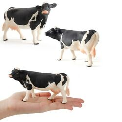 Miniatures Cows Plastic Models Simulated Animal Figurines Cow Action Figure