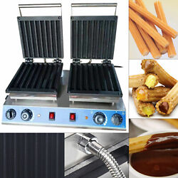 3kw 50-300℃ Commercial Electric Waffle Maker Nonstick Churro Baker Maker Machine