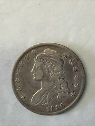 1836 Capped Bust Half Dollar Fifty Cent Coin Key Date Nice Example As