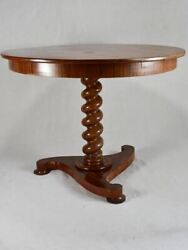 Antique French Restoration Period Round Table
