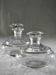 Pair Of Blown Glass Carafes From The Early Twentieth-century