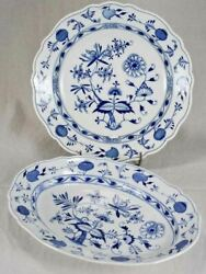 Two Rare Meissen Delftware Serving Platters From The Eighteenth-century