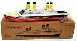 Titanic Tin Toy Steam Pop-pop Boat Classic Toy Replica New - Summer Sale
