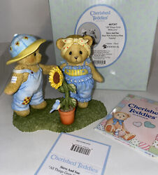 Cherished Teddies 4037357 Steve And Sue All Things Grow With Love New In Box 2013