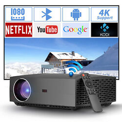 4200 Lumen 1080p Native Android Dual Wifi Projector 4k Movie Video Game Led Hdmi