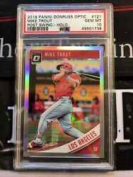 Mike Trout 2018 Panini Optic Holo Post Swing Psa 10 121 Angels
