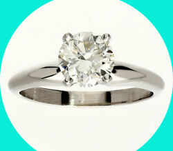 New W/tag 1.28c Vs1 Diamond Solitaire Engagement Ring 14k White Gold Round Brill