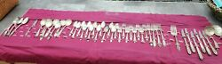 Vtg National Silver Co. A1 Silverplate Flatwear Rose And Leaf 45 Pieces With Case