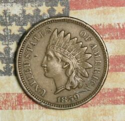 1859 Indian Head Cent Nice Collector Coin, Free Shipping