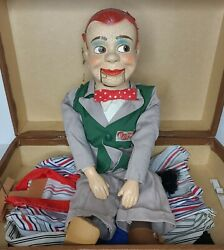 Paul Winchelland039s Jerry Mahoney Ventriloquist Dummy Composition Head + 3 Outfits