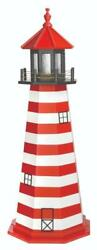 Amish Wood Or Hybrid West Quoddy Me Lighthouses With Rotating Solar Led