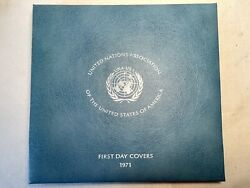 1971 United Nations Association Of The U S A First Day Covers