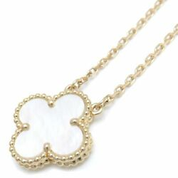 And Yellow Gold Mother Of Pearl Vintage Necklace /095178