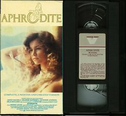 Aphrodite Unrated Vhs Valerie Kaprisky Capucine Vestron Video Tested