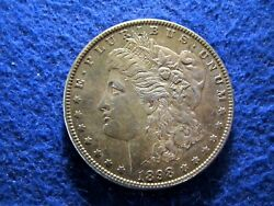 1898 Morgan Silver Dollar - Nicely Toned Lustrous Xf -some Color   Read