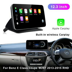 12.3 Android Car Gps Video Navi Auto Media For Benz E Class Coupe 2013-2015 Rhd