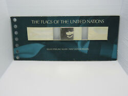 Rare 1974 Flags Of Un Solid Sterling Silver 1st Edition Proofs Cypress Czech +