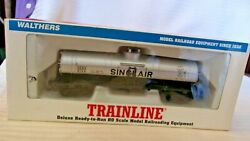 Ho Scale Walthers 40and039 Single Dome Tank Car Sinclair Silver 8194 Bnos