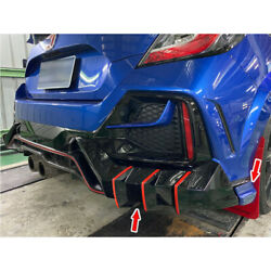 Painted Fit For Honda Civic 10th Fk8 Model Rear Side Bumper Protector Cover Trim