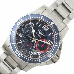 Longines Hydroconquest Chronograph L3.696.4 Automatic Blue Dial Stainless Men's