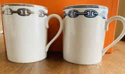Authentic Boxed Hermes Dunkle Pair Mugs Free Shipping No.7140