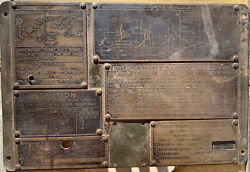 M38a1 Willys Jeep Dash Board Service Id Operation Plate - The Real Deal Oem