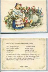 Vintage Victorian Piano Coffee Chess Game 1 Garden Florist Cat Spinach Soup Card