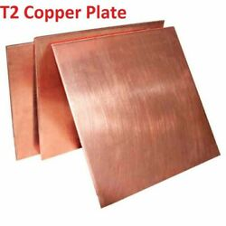 0.8mm -5mm Thick T2 Pure Copper Plate/sheet Copper Block Laser Cut Various Sizes