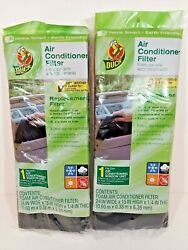 2 Duck Window Ac Foam Replacement Filter 24x15x1/4 Washable Reusable Cut To Size