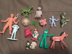 Junk Drawer Lot Of Mini Figures 15 New And Used Cheap Gumby Rambo E.t.