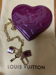 Sale Louis Vuitton Limited Heart Coin Case With Padlock Chain Boxed No.8458